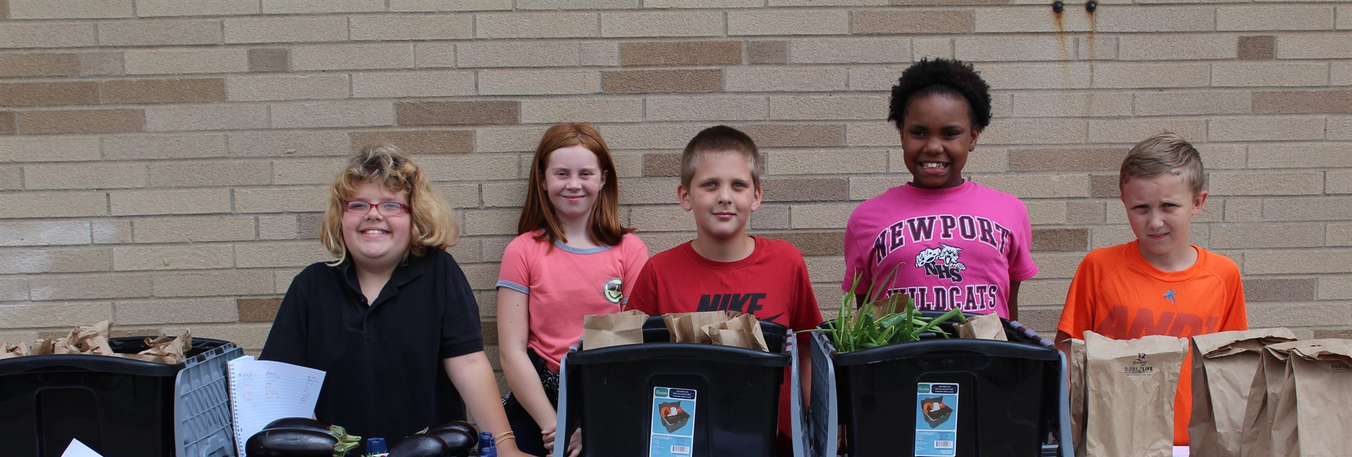 Students in the Latonia Elementary Herbmania and Garden Club.